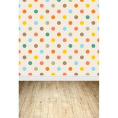 3x4 Durable Matte Vinyl Backdrop Floor Distressed Multi Color Polka Dots By DropPlace 2500
