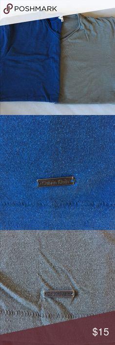 2 men's tees 2 Calvin Klein short sleeve tees. Calvin Klein Shirts Tees - Short Sleeve