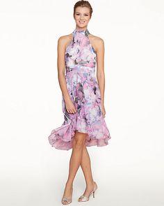 Floral Chiffon High-Low Dress