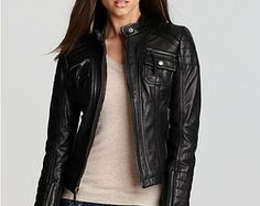 Embroidered Leather Motorcycle Jacket $488.89 | Clothing ...