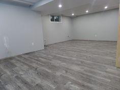 grey flooring Amazing Gray Vinyl Plank Flooring Ideas Gray Vinyl Plank Flooring Vinyl Plank Flooring Grey Walls How To Install Peel And Stick On Grey Vinyl Plank Flooring, Grey Laminate Flooring, Vinyl Wood Planks, Grey Hardwood Floors, Kitchen Flooring, Vinyl Flooring Basement, Modern Flooring, Basement Walls, Basement Bedrooms