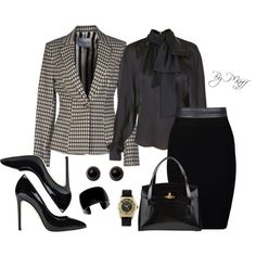 A fashion look from October 2014 featuring Balmain blouses, Frankie Morello blazers and Just Female skirts. Browse and shop related looks.