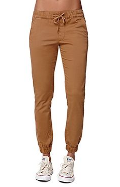 Bullhead Denim Co. Chino Twill Drawcord Jogger Pants - Womens Pants from PacSun. Nike Outfits, Trendy Fashion, Fashion Sets, Women's Fashion, Jogger Pants, Swagg, Who What Wear, Pretty Outfits, Dress To Impress