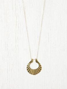 Crinkle Crescent Necklace | FreePeople