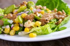 Corn and Fava Bean Salad with Walnut-Miso Dressing