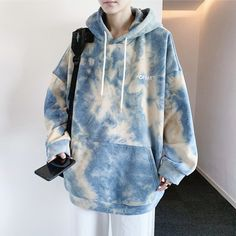 Korean Fashion Of Day Soft Paint Tie-Dye Oversized Hoodie - Aesthetic Feed - eGirl Outfits - Aesthetic Clothing - Aliexpress Fashion Finds