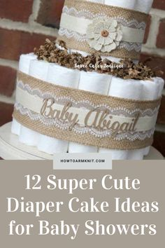 Come look at these 12 Super Cute Diaper Cake Ideas for Baby Showers Diaper cakes are so cute and fun in this artcle you can make your own Diaper cakes for your baby!!! We have many Cake ideas that you will love alot. Make some awesome Diaper cakes for your baby today! #12SuperCuteDiaperCakeIdeasforBabyShowers #CuteDiaperCakes #BabyShower #Baby #DiaperCakes #Cake #BabyCakes #SuperCuteCakes Fancy Cakes, Cute Cakes, Diaper Cake Instructions, Mini Diaper Cakes, Diaper Wreath, Cakes Today, Baby Shower Diapers, Baby Shower Centerpieces, Easy Crafts For Kids