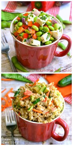 California Roll Quinoa and Edamame Feta Salad � {Pick �n Save Meals in a Cup}