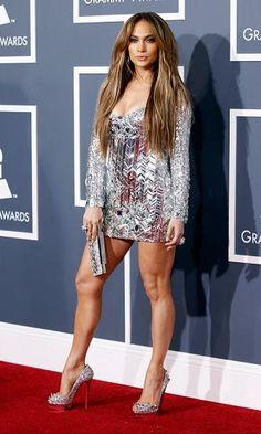 Jennifer Lopez sequined dress.