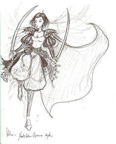 Amano-style Valice Sketch