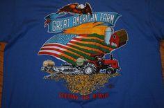 "Vintage ""The Great American Farm Feeding The World"" Screen Stars T-Shirt Men XL #ScreenStars #GraphicTee"