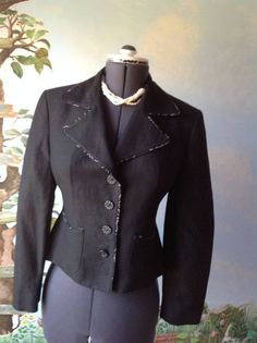 Jones New York Long Sleeve Black Blazer Suit Jacket SZ 6 #JonesNewYork #Blazer