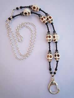 We design beautiful jewelry lanyards and cool lanyards for the professional woman.  Shop www.lanyardelegance.com