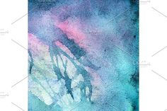 Watercolor turquoise cyan texture by Art By Silmairel on @creativemarket
