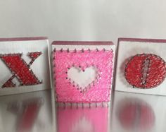 Unique Valentines decor. String art. Valentines day gift for women. Xoxo decor. String art. Modern valentines decor. - Edit Listing - Etsy
