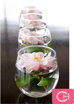 With other glasses you can simply put in floating flowers without candles.