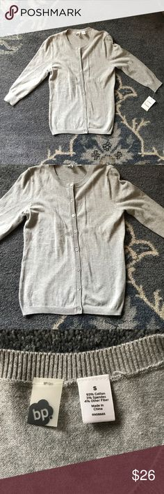 BP Nordstrom Gray Cardigan 94% cotton 3% spandex 4% other fiber  bp249810 bp1313  Armpit to armpit: 16 in (unstretched) Length: 22.5 in bp Sweaters Cardigans