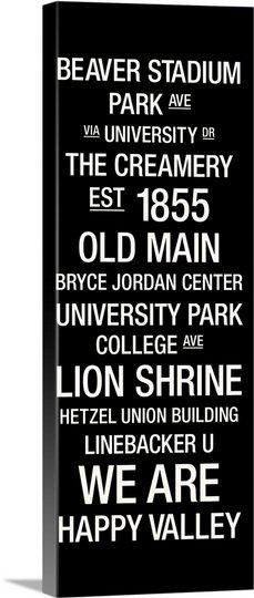 Penn State: College Town Wall Art; Cool Idea