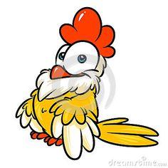 Chicken cheerful cartoon illustration isolated image animal character