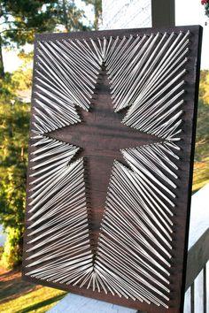 Christmas Star String Art/ Christmas String Art/ by DistantRealms
