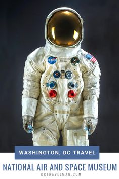 Start planning your visit to Washington, D.C's Smithsonian National Air and Space Museum. From Neil Armstrong's space suit to scavenger hunts, special exhibits and guided tours, there is no end to the educational opportunities at this DC museum. READ MORE to add this to your list of things to do in DC. #washingtondc #nationalairandspacemuseum