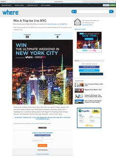 Win A Trip for 2 to NYC from WhereTraveler