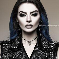 Model/MUA/Photo: Beatriz Mariano Photography Earrings + Vest: Killstar Hair dye: Attitude Holland x Manic Panic Welcome to Gothic and Amazing |www.gothicandamazing.com