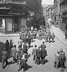 Old Street, Bratislava, Old Photos, Nostalgia, Street View, Europe, Retro, Squares, Times