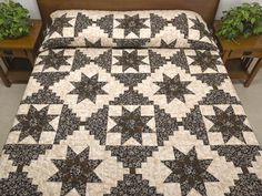 Dahlia Log Cabin Quilt -- exquisite made with care Amish Quilts from Lancaster (hs6109)