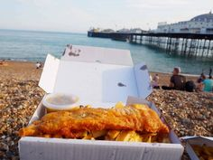how to spend a day in Brighton Visit Brighton, Brighton Rock, Brighton England, Stick Of Rock, British Summer, Fish And Chips, Day Trip, Stuff To Do, Tasty