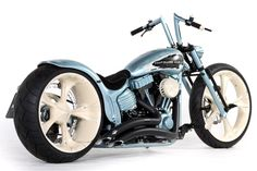 "#Thunderbike Jagged Rocker (#Harley-Davidson Softail Rocker C) customized with 21""/23"" wheels. Click for more photos of the bike."