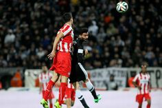 Stefanos Athanasiadis of Paok in action Personal Photo, Action, Football, Sports, Photos, Soccer, Hs Sports, Group Action, Futbol