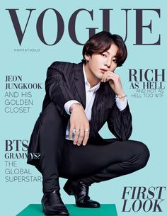 """BTS's fans are creating new magazine covers in response to """"The Hollywood Reporter's"""" (THR) controversial article about BTS. Vogue Magazine Covers, Vogue Covers, Jung Kook, Bts Jungkook, Jikook, Bts Book, Bts Group Photos, V Bts Wallpaper, Bts Maknae Line"""