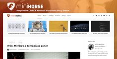 nice MiniHorse – Responsive Clean &amp Minimal WordPress Weblog Theme (Individual)