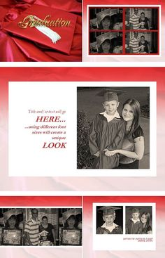 """""""The End Of The Beginning"""" is a digital scrapbook layout that proves that every graduation is the end of things greater to come."""