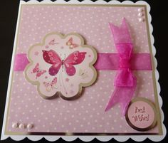 Made using a Hunkydory card kit - perfect clean layout. Kanban Cards, Hunkydory Crafts, Hunky Dory, Uk Magazines, Birthday Cards For Women, Card Companies, Paper Crafts, Diy Crafts, Adult Crafts