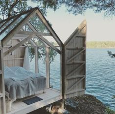 Tiny Glass House: 15 tiny houses with a view of the world – Amazing Glasses House Ideas & Glasses House Trends 2020 Outdoor Spaces, Outdoor Living, Outdoor Bedroom, Gravity Home, House Ideas, Cabins In The Woods, Garden Cottage, Glass House Garden, Little Houses