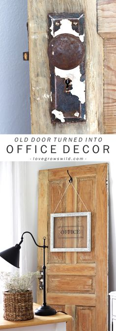 Old Door and Office Sign