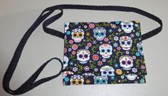 Sugar Skull Cross-body Pouch, Sugar skull pouches, Cross body bags, Sugar skulls by beckyspillowshop on Etsy