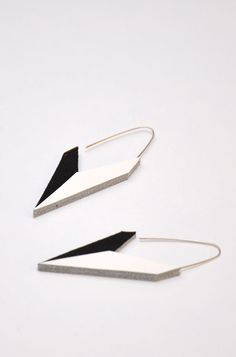 Aumorfia   Polygons   SS14   Check leather earrings