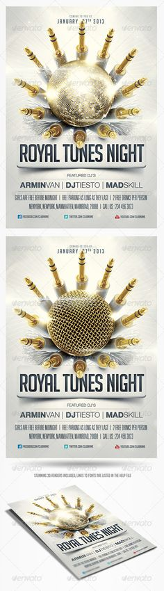 Royal Tunes Flyer Template - GraphicRiver Item for Sale