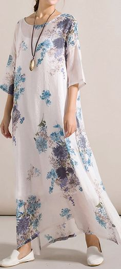 US$ 23.99 Chinese Style Floral Printed Dresses Two-piece Outfits For Women