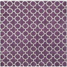 Handmade Moroccan Purple Contemporary Wool Rug (7' Square)