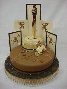 African-themed cake from designer/artist Deon Swart, proprietor of The Cake Genie in Mondeor, Johannesburg, Gauteng, South Africa....