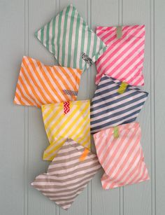 Diagonal Stripe Paper Gift Bags by petra boase | notonthehighstreet.com barefootstyling.com