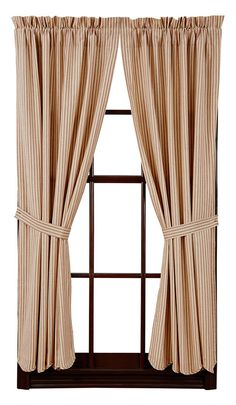 Curtains Ideas black and khaki curtains : Amherst Lined Scalloped Short Curtain Panels 63