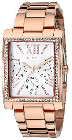Women's Wrist Watches - GUESS Womens U0446L3 Stunning Retro Rose GoldTone MultiFunction Watch -- You can find out more details at the link of the image. (This is an Amazon affiliate link)