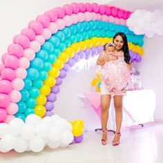 31 ideas baby shower ideas rainbow signs for 2019 Rainbow Birthday Party, Unicorn Birthday Parties, Baby Birthday, Birthday Ideas, Balloon Decorations, Birthday Party Decorations, Rainbow Balloons, My Little Pony Party, Unicorn Baby Shower