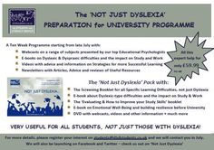 Not Just Dyslexia 'Preparation for University' Screening Test