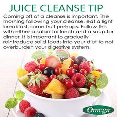 Juice Cleanse Tip on #TastyTipTuesday with Omega Juicers! http://omegajuicers.com/recipes/recipe-type/5-day-juice-cleanse/